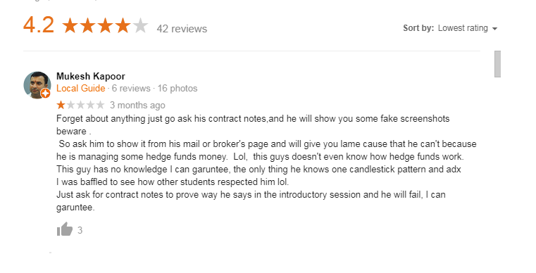 Google fake reviews